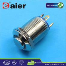 Daier 4pins 12volt interruptor de botón iluminado a prueba de agua