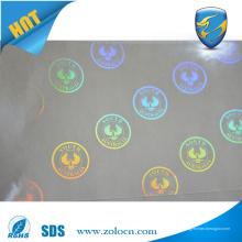 3d transparenter Sicherheitshologrammaufkleber