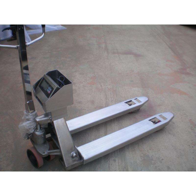 steel pallet truck with scale