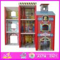 2014 Fashion New Wooden Dollhouse Model Toy, Wholesale DIY Wooden Dollhouse Toy, 3D Colorful Baby Wooden Dollhouse Set Factory W06A049