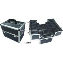 caja de herramienta de aluminio fuerte con 4 bandejas de plástico y compartimientos ajustables en el fabricante de inferior