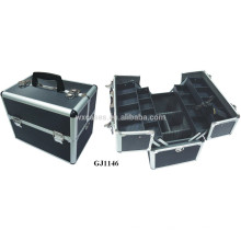 caixa de ferramenta de alumínio forte com 4 bandejas plásticas & compartimentos ajustáveis sobre o fabricante caso inferior
