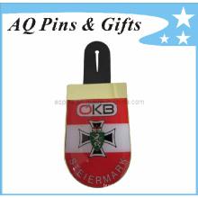 Cmyk Printing Lapel Pin Badge in Epoxy for Logo Emblem (badge-081)