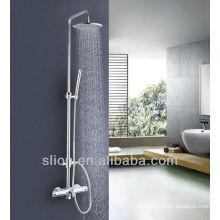 Mueble de ducha de latón montado en la pared Mezclador de ducha de baño termostático