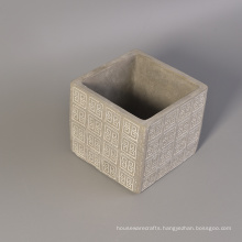 Cube Shape Concrete Containers for Candle