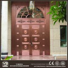 Woodwin Coppman New Design Handwork Security Door Copper Door