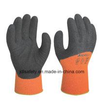 Guante de trabajo de invierno cubierto con látex de Sandy (LT2028)