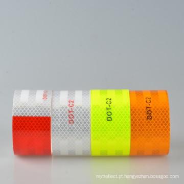 DOT C2 fita reflexiva vermelho branco