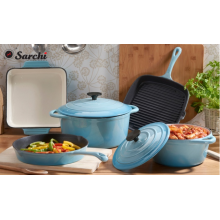 Meilleure vente de ustensiles de cuisine émaillés colorés en fonte