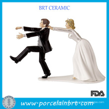 Amusing doble favor de la boda de cerámica