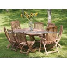 Juego de muebles de jardín / exterior de madera maciza