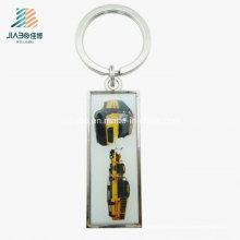 Chaveiro de promoção de carro de liga de zinco de impressão de liga de zinco de produtos quentes