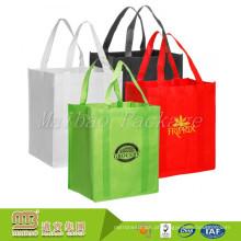 Sacos de compras na mercearia não tecidos reusáveis resistentes a favor do meio ambiente promocionais