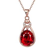 Euramerican Pop Elegant Rose Gold Halskette Drop Form Zirkon Halskette Schmuck