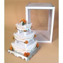 Prateleira de exibição acrílica pop para bolos, suporte de exibição publicitária