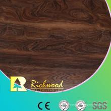 Piso laminado de madera HDF de roble HDF grabado en registro de 8 mm