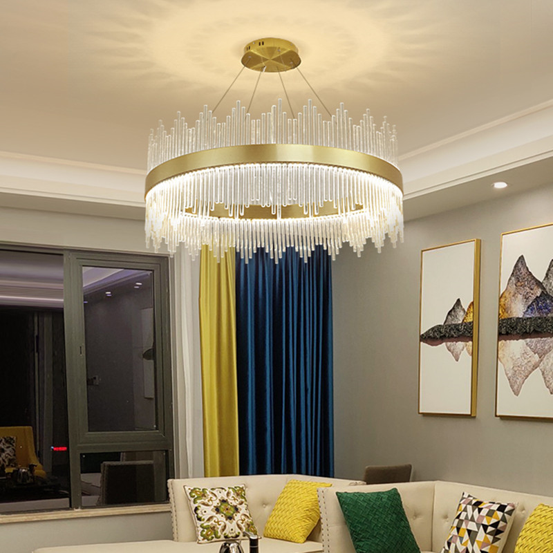 Beaded Crystal Beautiful ChandeliersofApplicantion Long Chandelier