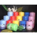 Smokelss Unscented Pressed Pillar Candles
