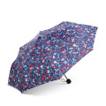 Paraguas plegable personalizado resistente a prueba de viento fuerte con el logotipo