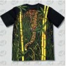 T-shirt en coton à manches courtes à manches courtes en polyester