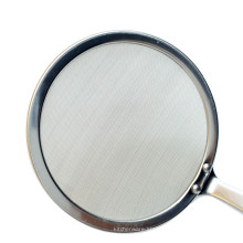 large stainless steel oil mesh strainer filter with long handle