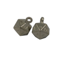 Garment Accesory Irregular Ball Shaped Metal Hang Tag