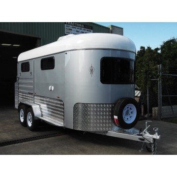 Two Horse Angle Load Horse Trailer Modelo Deluxe