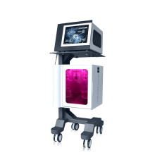 Limpieza profunda de la piel facial & Jet Peel Water Oxígeno Piel y lifting reafirmante de la piel Máquina de rejuvenecimiento Mangos BIO RF