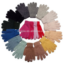 Ladies colorful acrylic knitted glove