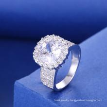 new york silver jewelry rhodium plating jewelry cubic zirconia engagement ring