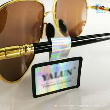 Impresión en color etiqueta engomada brillante de la etiqueta de los vidrios de la laminación de la película laser