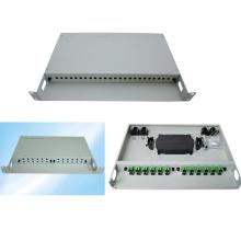 FTTH Equipment 1u 24 Cores 19′′ Optical Fiber Fixed Patch Panel