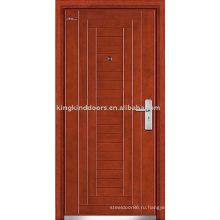 Бронированные двери JKD-202 стали деревянные двери для усиленной безопасности двери