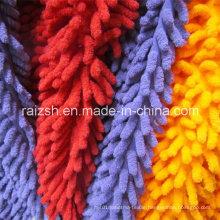 Polyester Microfiber Chenille Velvet Fabrics for Mop Water Absorbent Velvet
