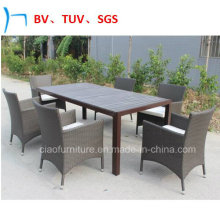 Garden Furniture Patio Dining Set Outdoor Rattan Chair and Table