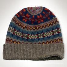2016 personalizado cor jacquard tricô bebê chapéu padrão stripe crianças crochet malha chapéu
