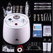 Powewful 3 в 1 Алмазная Микродермабразия вакуумный спрей пилинг машина красотки внимательности кожи