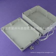 Boîtier personnalisé ip65 boîtier étanche en plastique boîte de jonction électrique boîtier en fonte PWE208 avec taille 300*230*110mm