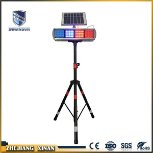 roadway safety solar strobe two sides light