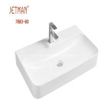 Rectangular Ceramic Countertop Basin
