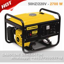 Precio 100% del generador de gasolina del alambre de cobre 2.7kw con CE y GS