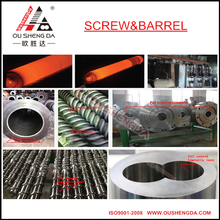 Barril de tornillo bimetálico con alta resistencia al desgaste para máquina de extrusión