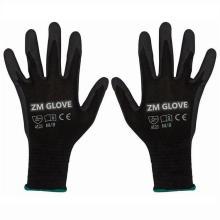 13 Gauge Polyester Shell Nitril getauchte Handschuhe Sandy Grip Handschuh