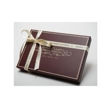 Caixa de embalagem de presente de chocolate artesanal com fita