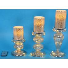 Decoración de Navidad Artesanía de cristal ligero con la secuencia de cobre LED para el arte de la pared (17007)