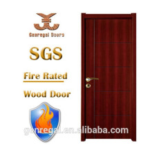 High Quality BS test apartment Walnut Fire rated Door