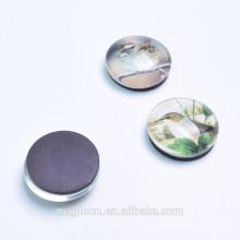 round glass magnet for refrigerator
