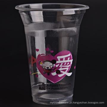 Copos plásticos transparentes, copos de café gelado, fontes do partido, copos frios das bebidas