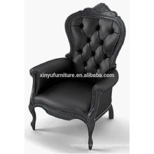 Black leather modern wooden chair XYD450