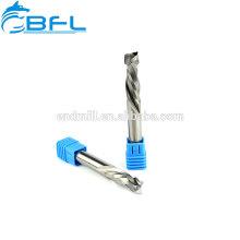 Herramientas de corte de carburo de torno BFL Herramientas de corte de madera de molino de extremo de compresión de carburo 2 flauta